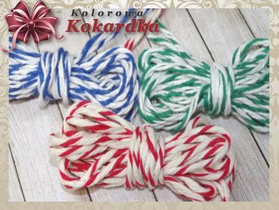 Sznurek dekoracyjny bawełniany dwukolorowy