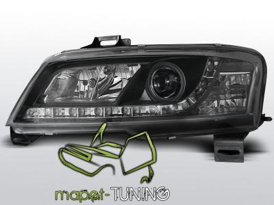 Lampy przód Fiat Stilo BLACK DayLight LED diodowe
