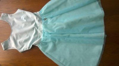 38c57a6f5e miętowa   rozkloszowana   sukienka bal wesele r.36 - 6206873809 ...