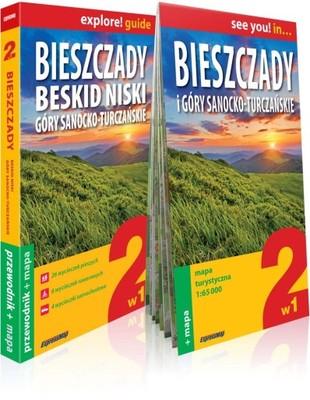 BIESZCZADY PRZEWODNIK + MAPA 2W1 ;9788380461567