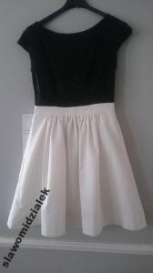 39b7efc4ac Sukienka PARISSE rozmiar 36 czarno biała - 5919185047 - oficjalne ...