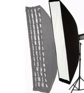 Softbox STRIP 30x120cm +GRID PLASTER MIODU BOWENS