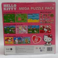 PUZZLE ZESTAW 10 PLANSZ  MEGA PACK Hello Kitty
