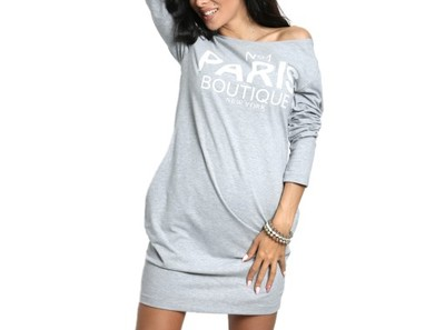 ad9c1e2559 Tunika dresowa TUBA sukienka PARIS 673 XXL J.SZARA - 6717710808 ...