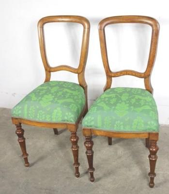 7445 Piękne Stylowe Krzesła 2 Sztuki Toczone Nogi