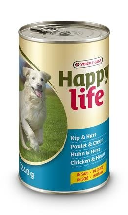 Happy Life Chicken & Heart 1240g