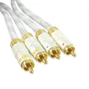 Wysokiej jakości kabel 2xRCA interkonekt 1m