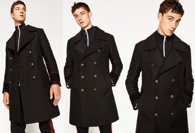 ZARA męski zimowy płaszcz wojskowy militarny M