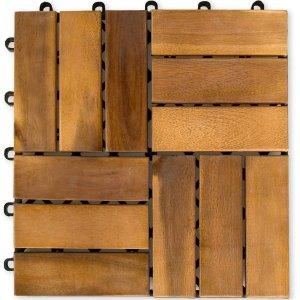 11 Sztuk Drewniane Płytki Panele Tarasowe Balkon