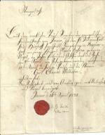 Jawor Jauer Pismo kościoła. ewangelickiego. 1832r