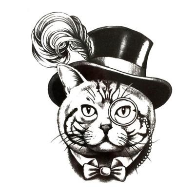 Tattoo Tatuaż Tymczasowy Zmywalny Kot Shrek Duży 6901964138