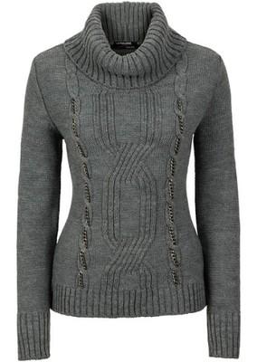 Sweter szary 32/34 XXS/XS 924445 bonprix