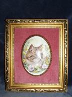 Kotek w ramce -ręcznie malowany