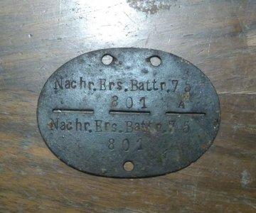 niemiecki nieśmiertelnik NACHR.ERS.BATTR.75
