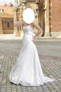 Suknia ślubna Dworski Romans 34 36 Litera A Tren 6040772812
