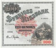 3961. Szwecja 100 kronor 1956 st.2