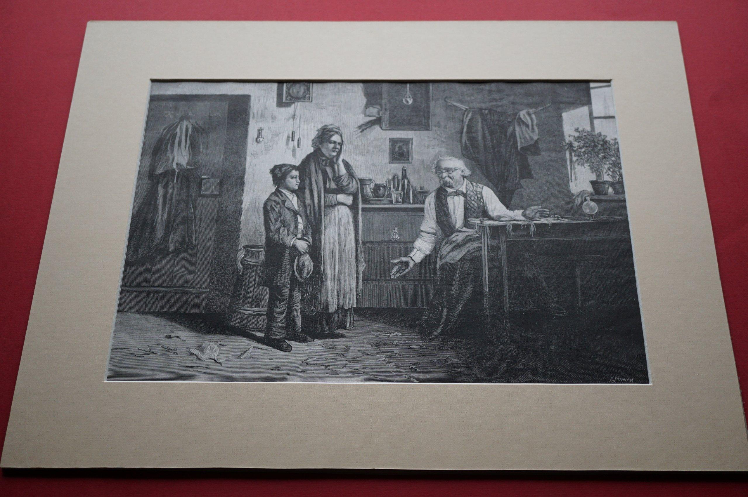 KONIUSZKO W.: Do terminu. Drzeworyt, 1882.