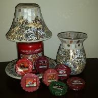 Yankee candle klosz + podstawka mozaika