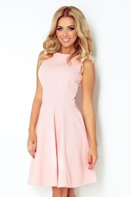 216318d200 Numoco modna sukienka koktajlowa brzoskwiniowa S - 6875566943 ...