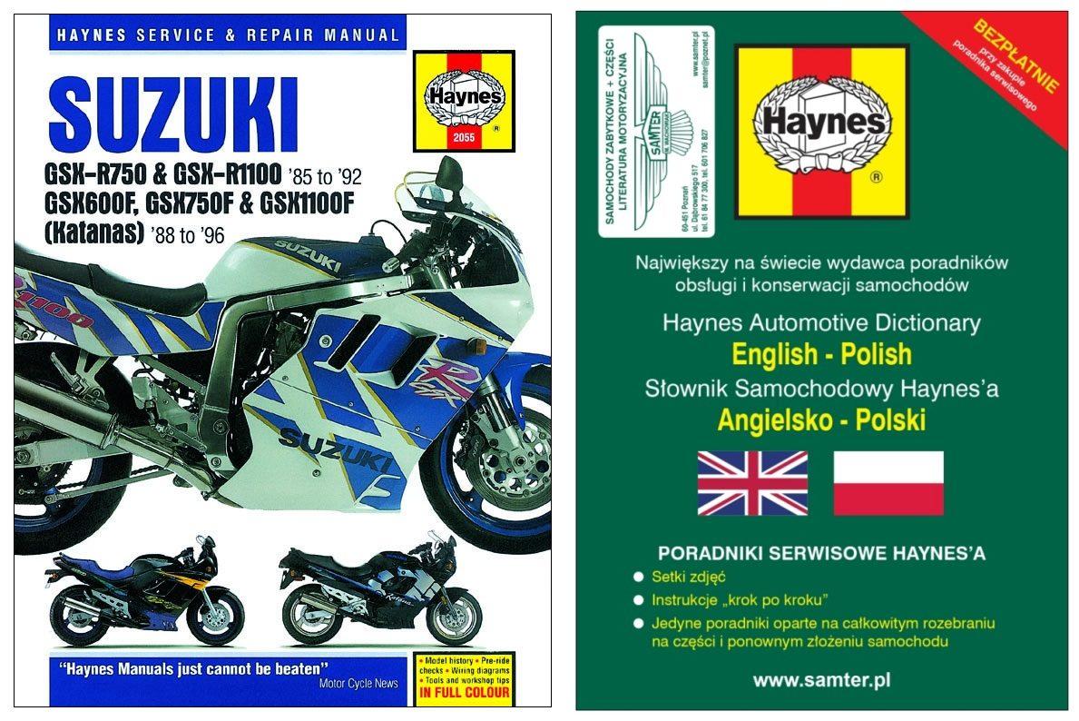 SUZUKI GSX-R 750 GSX-R 1100 Katana 1985-92 Haynes