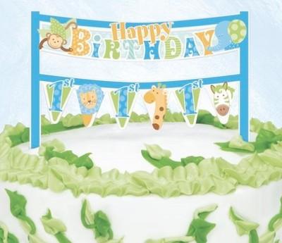 Dekoracja Baner Na Tort Na Roczek 1 Urodziny 5415877747