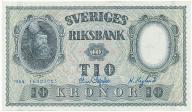 3951. Szwecja 10 kronor 1954 st.1-