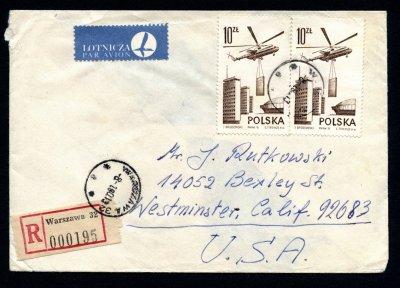 list polecony do usa warszawa 1980 koperta obieg 6555218414