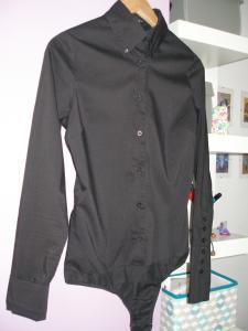 Czarna Koszula Body AMISU 36/S -  ŚWIETNA !!!