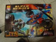 komplet klocków super heroes 298 części
