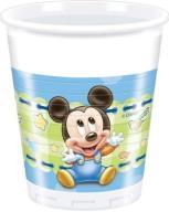 Kubeczki Kubki Mickey Baby Roczek 200ml 8szt