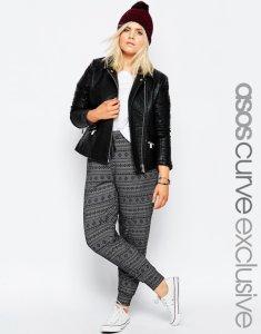 ASOS spodnie +size DRESOWE aztecki print 46 18 6034250570