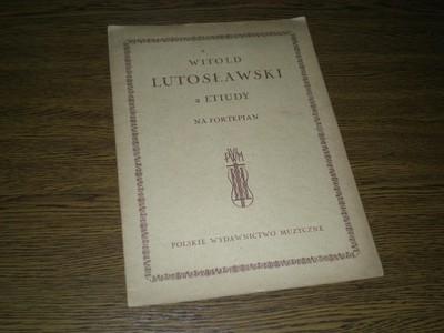 Witold Lutosławski - 2 Etiudy na fortepian - 1946