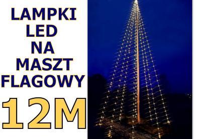 Siatka Led Sznur Maszt Flagowy Lampki świąteczne