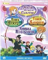 4 filmy DVD dla dzieci - Robin Hood, Sawer, Alicja