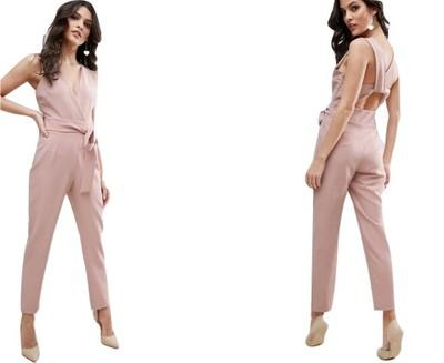93a5434f934386 Kombinezon pudrowy róż spodnium wiązany 34 XS - 6927951057 ...
