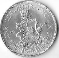 Bermudy, 1 korona 1964  - stan jak na zdjęciu