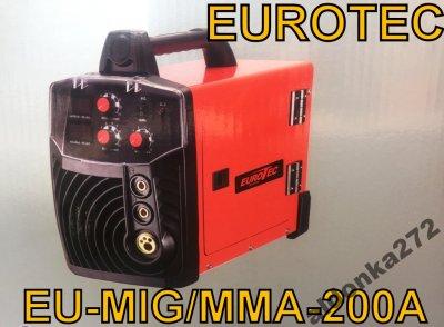 MIGOMAT SPAWARKA 200A EUROTEC 230V MIG MAG MMA LCD