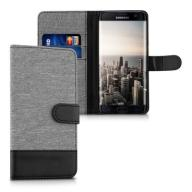 Portfel canvas szt.skóra Samsung Galaxy S7 edge