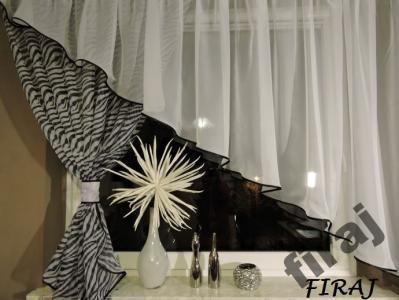 Modne Firany Gotowe Salon Pokój Kokon Zebra