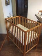 Łóżeczko Mamas&Papas drewniane + materac 90*55