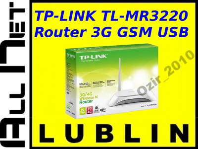 NOWY! TP-LINK TL-MR3220 Router WiFi GSM 3G 150Mbps