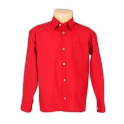 MIK Koszula chłopięca czerwona długi ręk POLSK 128