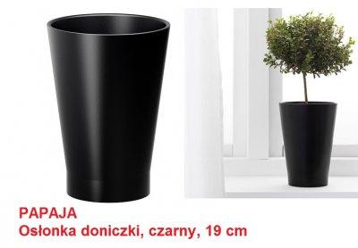 Ikea Papaja Osłonka Doniczki Czarna 19 Cm Doniczka