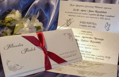Zawiadomienia Na ślub Cywilny Zaproszenia ślubne 6068424405