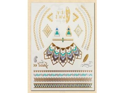 Złote Tatuaże Gold Tattoo Metaliczne Flash 6793465888