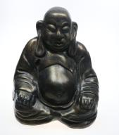 Duża figura Buddy rzeźba, odlew metalizowany 30 cm