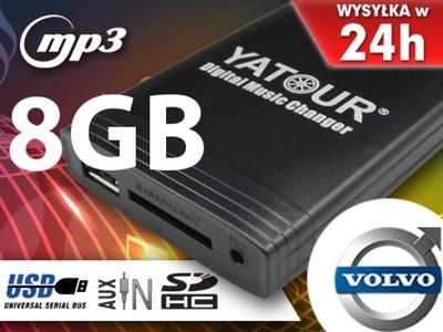 MP3 ZMIENIARKA SD USB VOLVO S40 V40 S60 XC70 +8GB