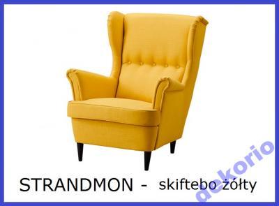 Ikea Fotel Strandmon Skiftebo żółty Nowość
