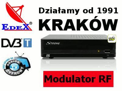 Tuner DVB-T Strong SRT 8113 MODULATOR RF Kraków