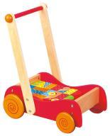 Na prezent dla dziecka 3w1 Pchacz wózek klocki